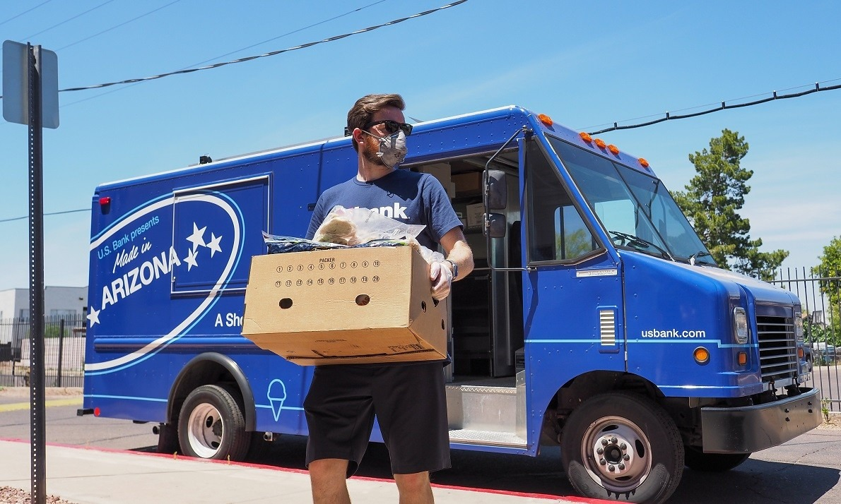 U.S. Bank food truck shifts gears to deliver groceries to those in need