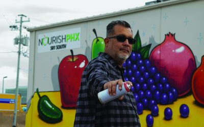 Phoenix Magazine: Lalo Cota Teams Up with Local Food Bank to Create Arizona-Inspired Fruit Mural
